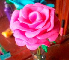 Rosa termoformada de Goma Eva - Foamy